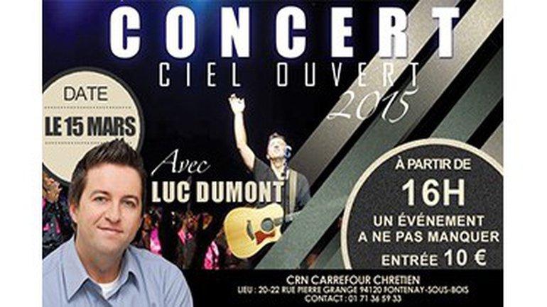 Concert de Luc Dumont le 15 mars 2015 16h à Fontenay-sous-Bois